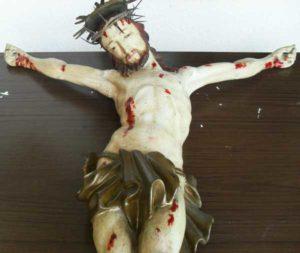 statua in legno Christus triumphans